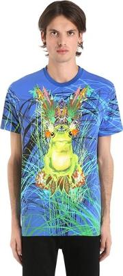 Psychedelic Frog Cotton Jersey T Shirt