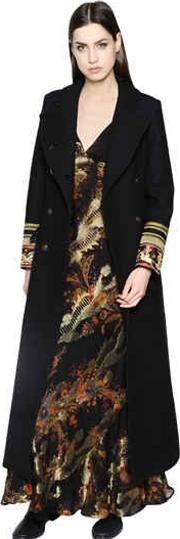 Wool Coat With Embellished Cuffs
