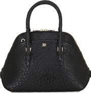 Small Lady Ostrich Top Handle Bag