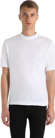 Logo Embroidered Cotton Jersey T Shirt