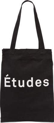 Logo Embroidered Cotton Tote Bag