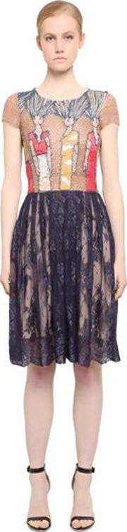 Embroidered Tulle & Lace Dress