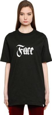 Face Printed Cotton T Shirt
