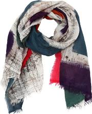 Printed Squares Multicolor Cotton Scarf