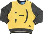 Wink Smiley Wool & Cashmere Sweater