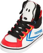 Snoopy Printed Faux Leather Sneakers