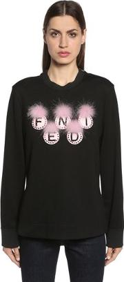 Embellished Fendi Logo Sweatshirt