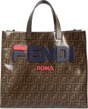 Fendi Mania Small Coated Canvas Tote Bag