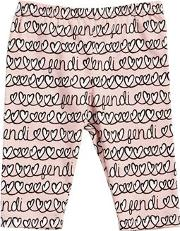 Hearts Printed Cotton Jersey Leggings