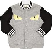 Monster Patch Cotton Bomber Jacket