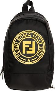 Rubber Patch Logo Nylon Backpack