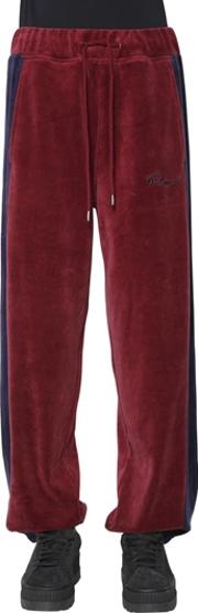 Velour Striped Track Pants