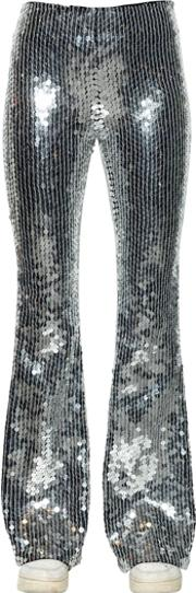 Flared Sequin Pants