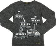 Buses Printed Cotton Jersey T Shirt