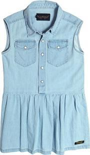 Sleeveless Light Cotton Denim Dress