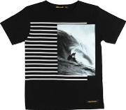 Surfer Printed Cotton Jersey T Shirt