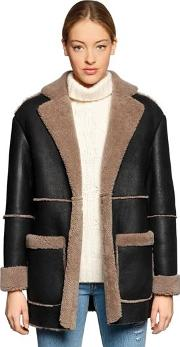 Blazer Shearling Fur Coat