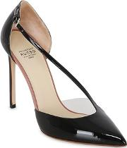 105mm Asymmetric Patent Leather Pumps