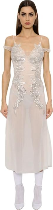 Crystal Embroidered Tulle Dress