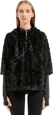 Curve Zip Track Jacket W Faux Fur