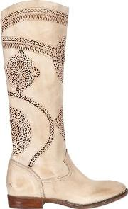 20mm Laser Cut Leather Boots