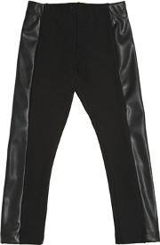 Milano Jersey & Faux Leather Leggings