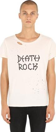 Death Rock Ripped Jersey T Shirt