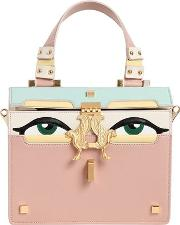 Mini Peggy Eyes Leather Top Handle Bag