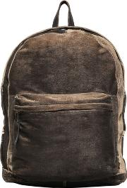 Carved Washed Leather Backpack