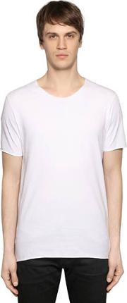 Raw Cut Cotton Jersey T Shirt