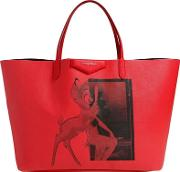 Bambi Printed Faux Leather Tote Bag