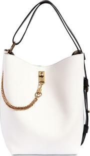 Gv Grained Leather Bucket Bag