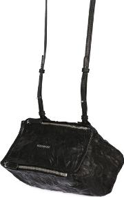 Mini Pandora Washed Leather Shoulder Bag