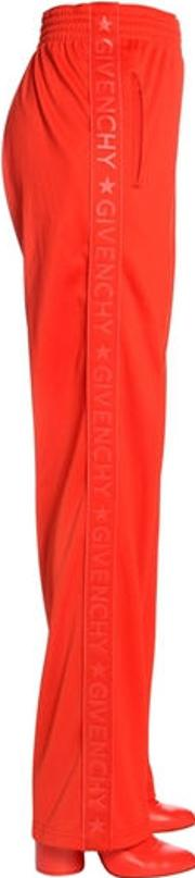Rubberized Logo Neoprene Track Pants