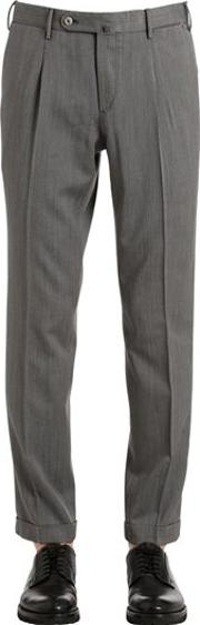 17cm Cropped Wool Twill Pants