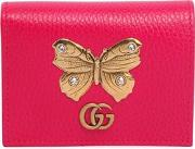 Butterfly Leather Card Case