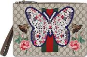 Embellished Butterfly Gg Supreme Pouch