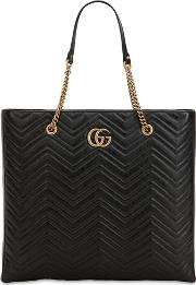 Gg Marmont Leather Tote Bag