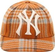 Ny Wool Check Baseball Hat