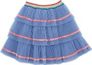 Plisse Layered Stretch Tulle Skirt