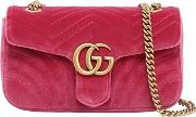 Small Gg Marmont 2.0 Velvet Shoulder Bag