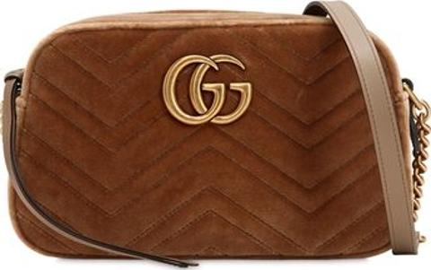 2ec09d781 Small Gg Marmont Velvet Camera Bag. Follow gucci Follow luisaviaroma