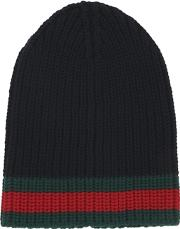 f3b95d6cfdef2 Web Wool Cable Knit Beanie Hat. gucci