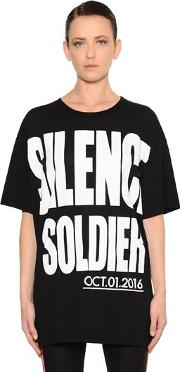Silence Soldier Cotton Jersey T Shirt