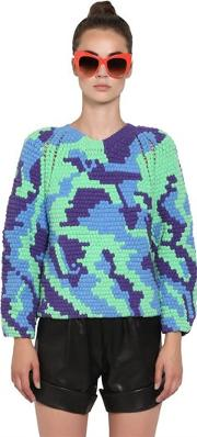 Hand Crocheted Cotton Sweater