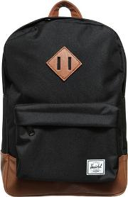 Nylon Canvas & Faux Leather Backpack