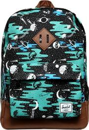 Space Print Nylon Canvas Backpack