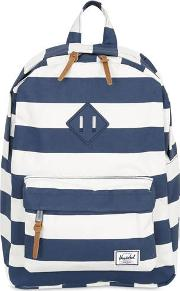 Stripes Printed Nylon Canvas Backpack