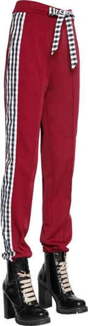 Tricot & Gingham Track Pants