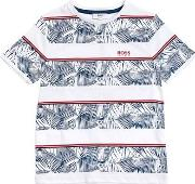 Striped Hawaiian Cotton Jersey T Shirt